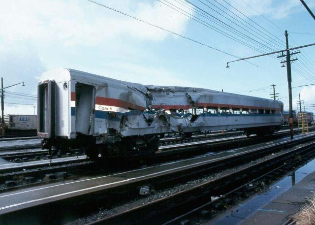Amtrak Wrecked Car In Oakland